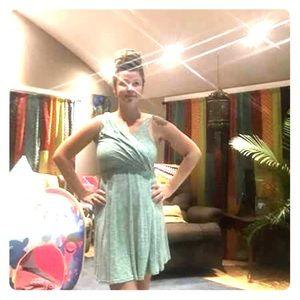 Heathered green mini dress